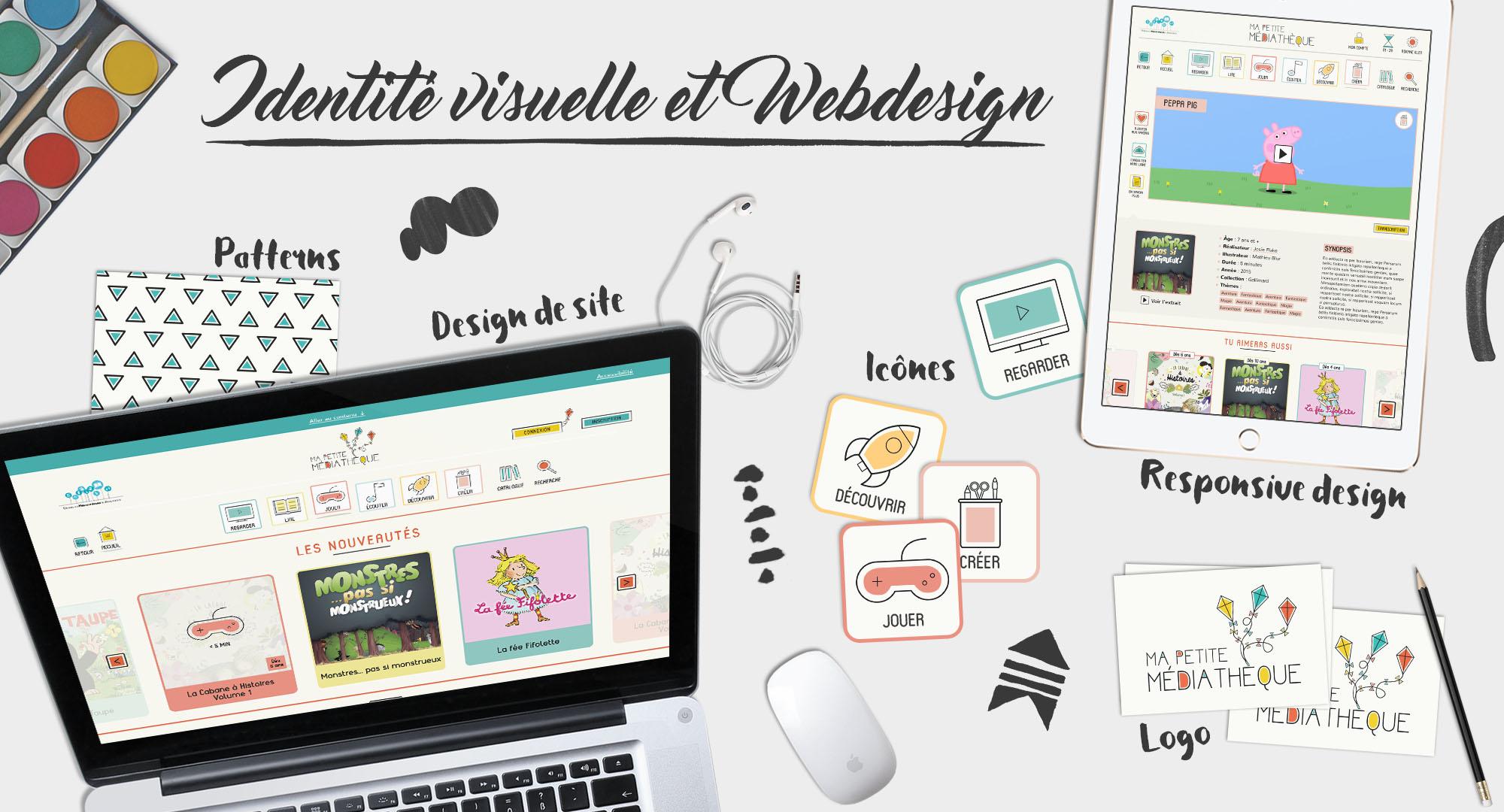 Logo - Graphisme - Site web - Arte - Ma Petite Médiathèque