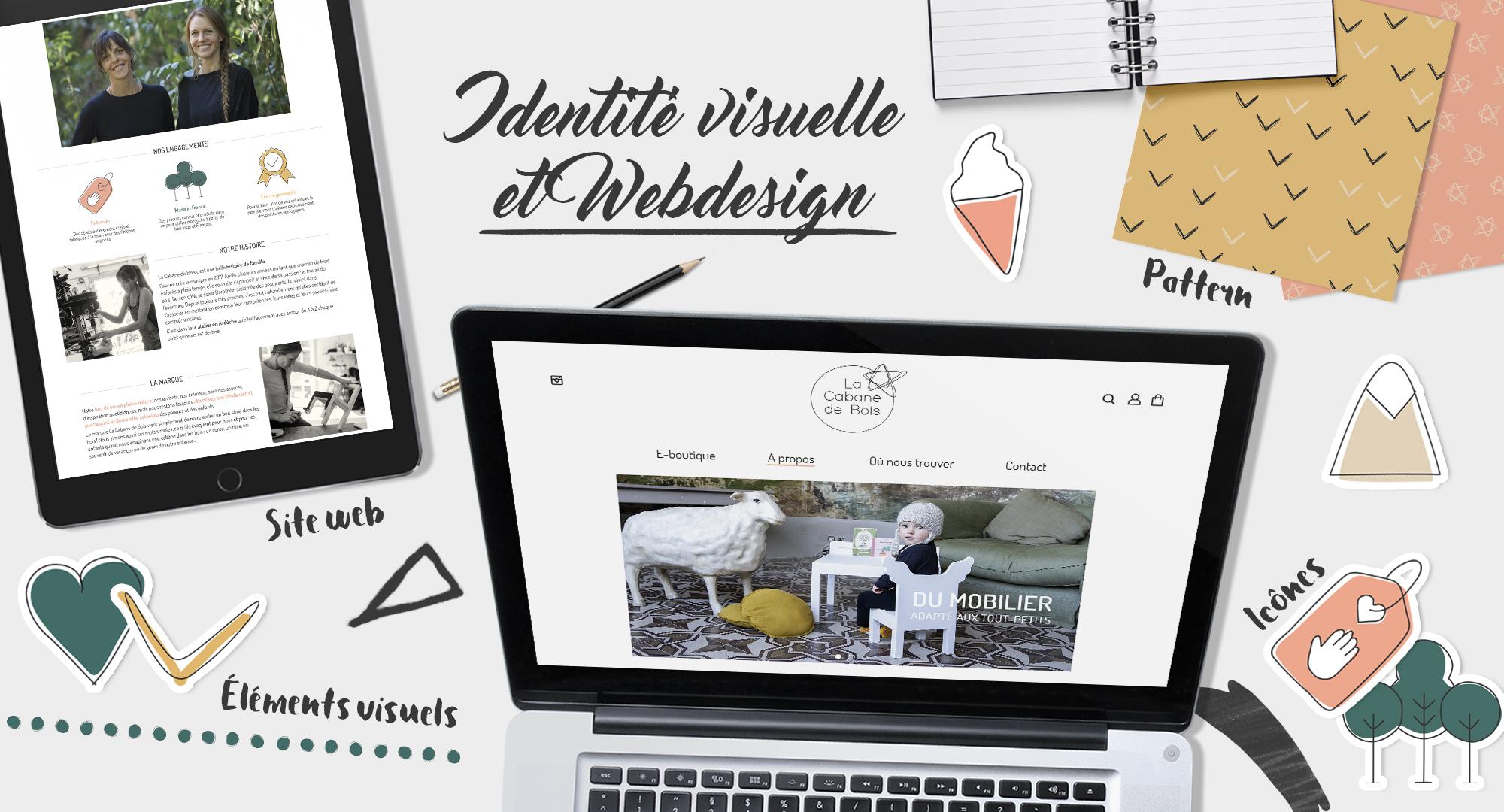 Logo - Graphisme - Site web - La Cabane de Bois - Identité graphique