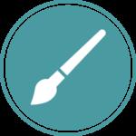 Icône - Page Accueil - Création graphique | Graphiste Webdesigner Freelance spécialisé Jeunesse