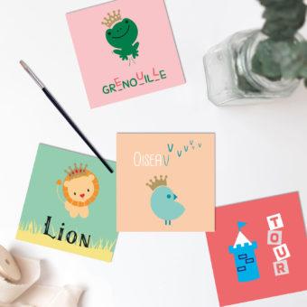 Print - Graphisme - Imagier - Maman et bébé - MAM Baby