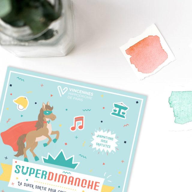 Graphisme - Print - Famille et enfants - Festival - Super Dimanche